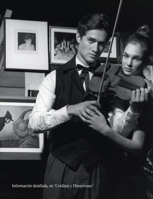 Charlie Siem and Laura Love in Vogue Espana; Photo by Bruce Weber